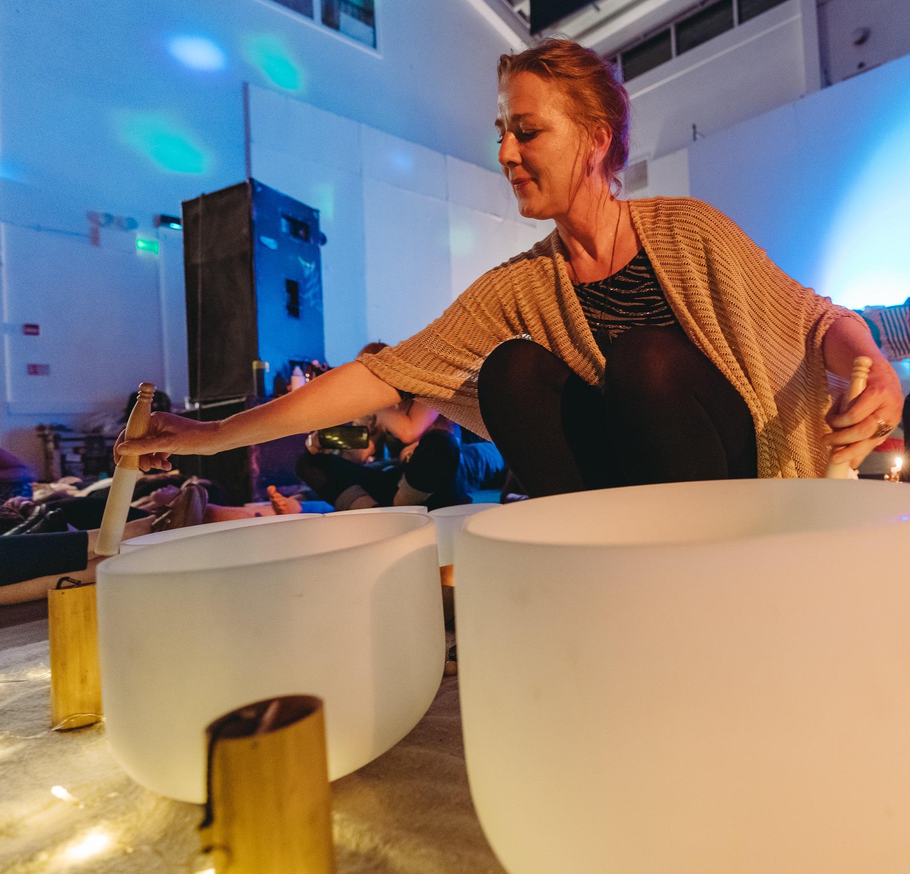 Sound bath online corporate wellness