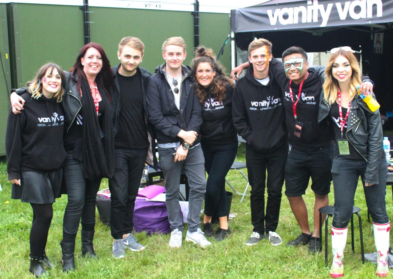 Vanity Van mobile beauty at Leeds festival Disclosure 2014