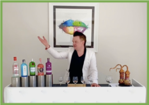 Virtual events Zest cocktail making