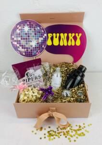 Virtual party disco inferno themed box
