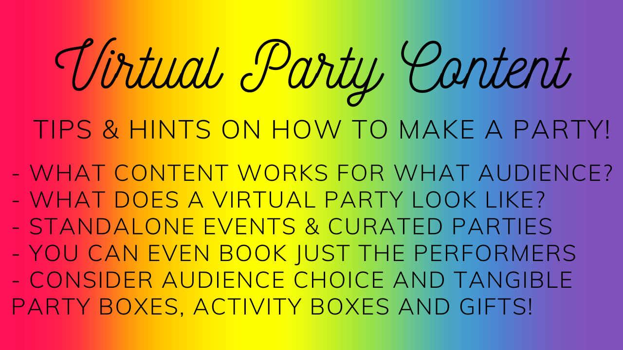 Virtual Party ideas