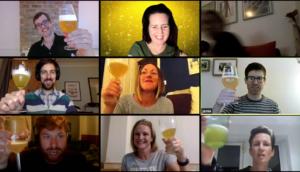 Virtual party beer tasting